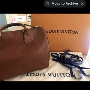 Louis Vuitton Speedy35Epi Kenyan Fawn Leather Bag
